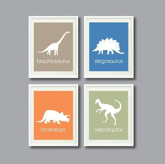 59 Best Kids Dino Decor Images On Pinterest | Dinosaur Kids Room With Regard To Dinosaur Wall Art For Kids (View 8 of 20)
