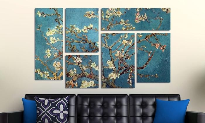 6 Panel Wall Art On Canvas | Groupon Goods Regarding Groupon Wall Art (Image 5 of 20)