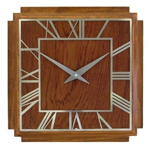 60 Best Clock Ideas Images On Pinterest | Wall Clocks, Wood And Throughout Art Deco Wall Clocks (Image 2 of 20)