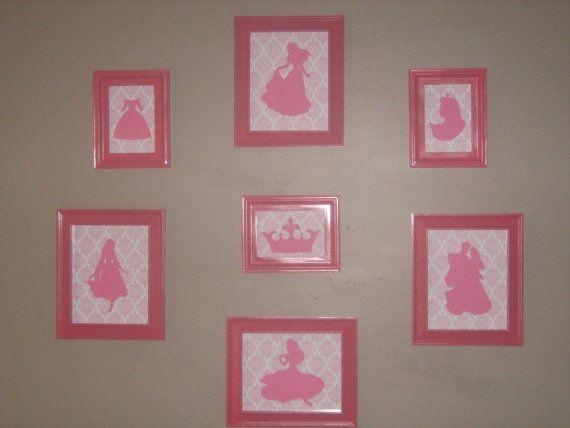 60 Best Disney Silhouettes Images On Pinterest | Disney Intended For Disney Princess Framed Wall Art (Image 7 of 20)