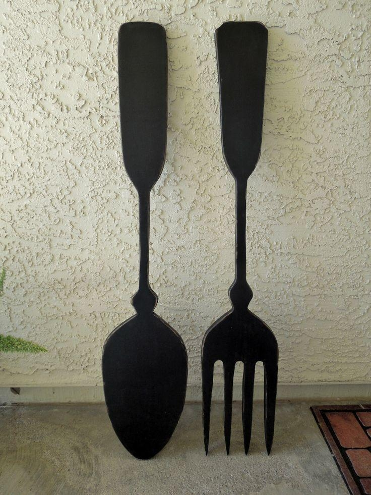 Big Kitchen Fork And Spoon Wall Decor