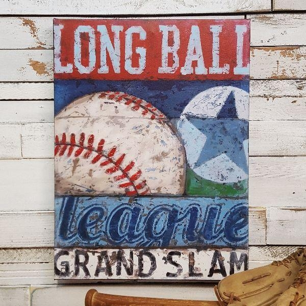 61 Best Sports Wall Art Decor For Baseball, Football, Soccer In Vintage Baseball Wall Art (Image 5 of 20)