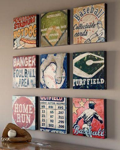 61 Best Sports Wall Art Decor For Baseball, Football, Soccer Intended For Vintage Baseball Wall Art (Image 6 of 20)