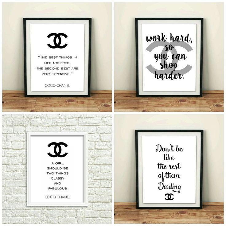 617 Best Digital Wall Decor Images On Pinterest | Ladies Footwear Throughout Chanel Wall Decor (View 19 of 20)