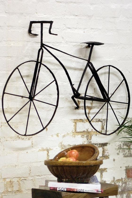 62 Best Decorative Wall Decorations Images On Pinterest | Home Throughout Bicycle Wall Art Decor (Image 3 of 20)