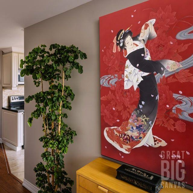 63 Best Red Art Images On Pinterest | Red Art, Canvas Prints And Regarding Geisha Canvas Wall Art (Image 2 of 20)