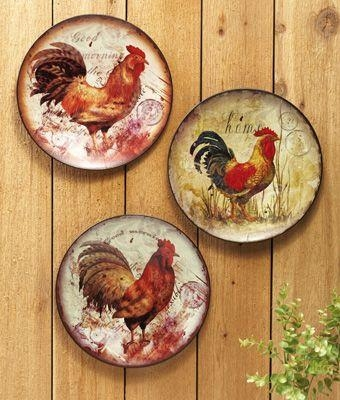 63 Best Rooster Kitchen Images On Pinterest | Rooster Decor Regarding Metal Rooster Wall Decor (Image 4 of 20)
