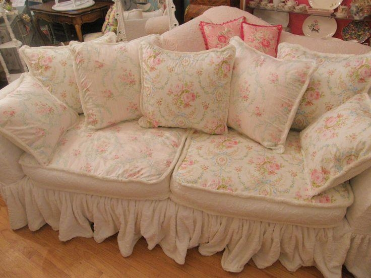 64 Best Ruffled Sofas And Slipcovers Images On Pinterest | Chairs Pertaining To Shabby Chic Sofas Covers (Photo 20 of 20)