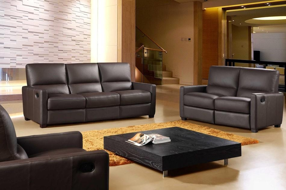 641 Full Italian Leather 3 Piece Reclining Sofa Set Pertaining To Italian Recliner Sofas (Photo 10 of 20)