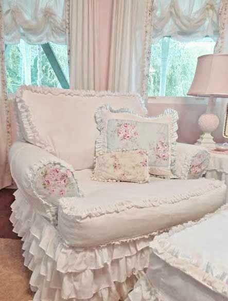 66 Best Shabby~Chair Covers Images On Pinterest | Chairs, Shabby Regarding Shabby Chic Sofas Covers (Photo 9 of 20)