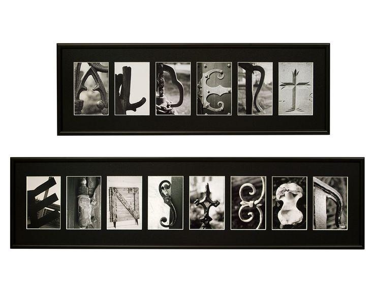 67 Best Alphabet Photography Images On Pinterest | Photo Letters Throughout Last Name Framed Wall Art (Image 1 of 20)
