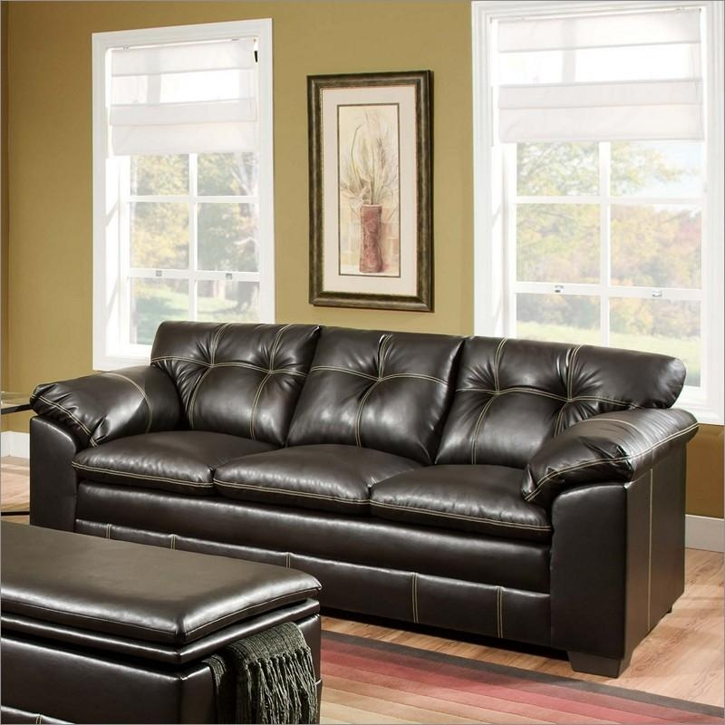 6769 Premier Bonded Leather Sofasimmons Upholstery And Pertaining To Simmons Leather Sofas And Loveseats (Image 4 of 20)