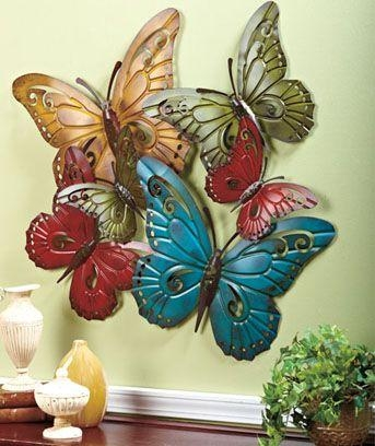 69 Best Metal Wall Art Images On Pinterest | Metal Walls, Metal Inside Large Metal Butterfly Wall Art (View 7 of 20)