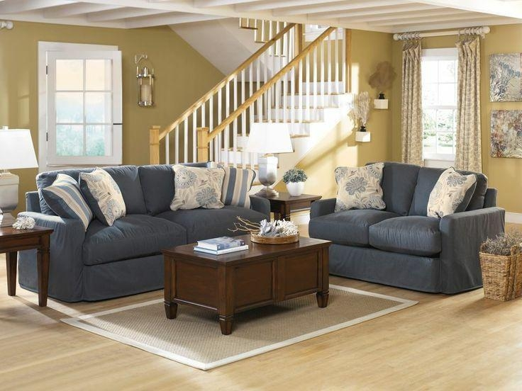 7 Best Living Room Redo Images On Pinterest | Living Room Ideas With Blue Denim Sofas (Photo 6 of 20)
