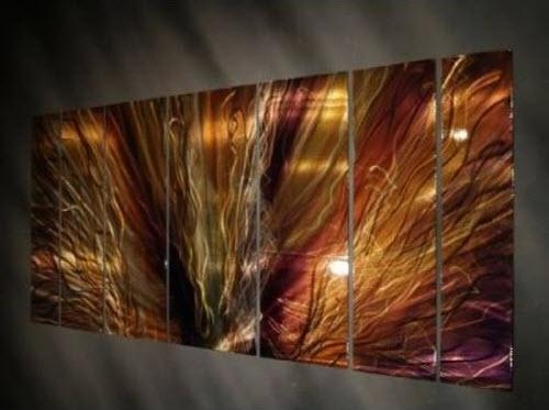 7 Panel Metal Wall Sculptureartist Ash Carl With Ash Carl Metal Art (View 1 of 20)