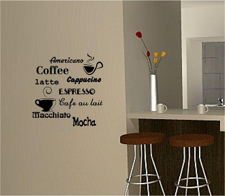 70 Best Kitchen Vinyl Wall Art Images On Pinterest | Kitchen Vinyl Intended For Cafe Latte Kitchen Wall Art (Image 4 of 20)