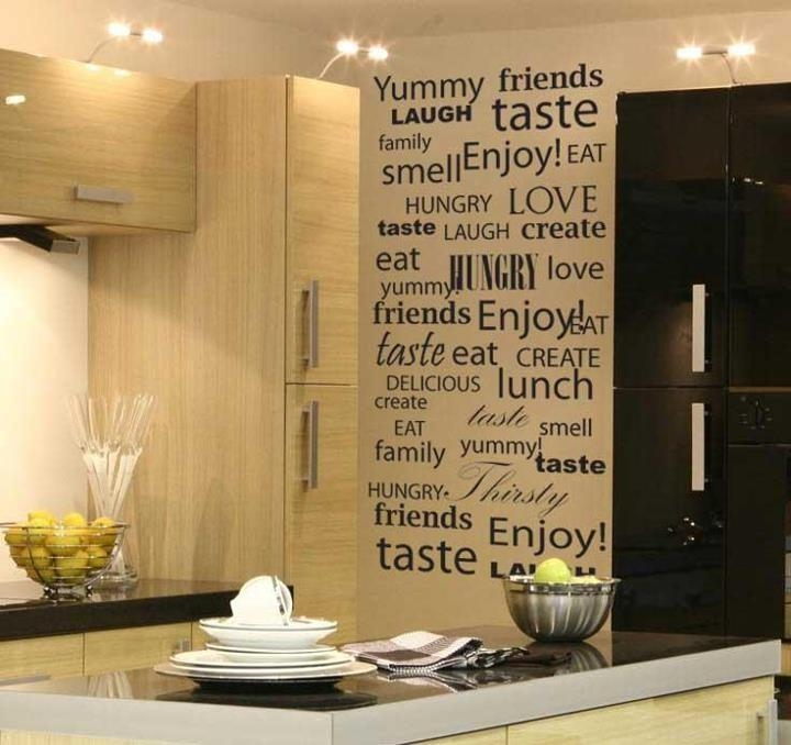 70 Best Kitchen Vinyl Wall Art Images On Pinterest | Kitchen Vinyl Pertaining To Wall Art For Kitchens (Image 2 of 20)