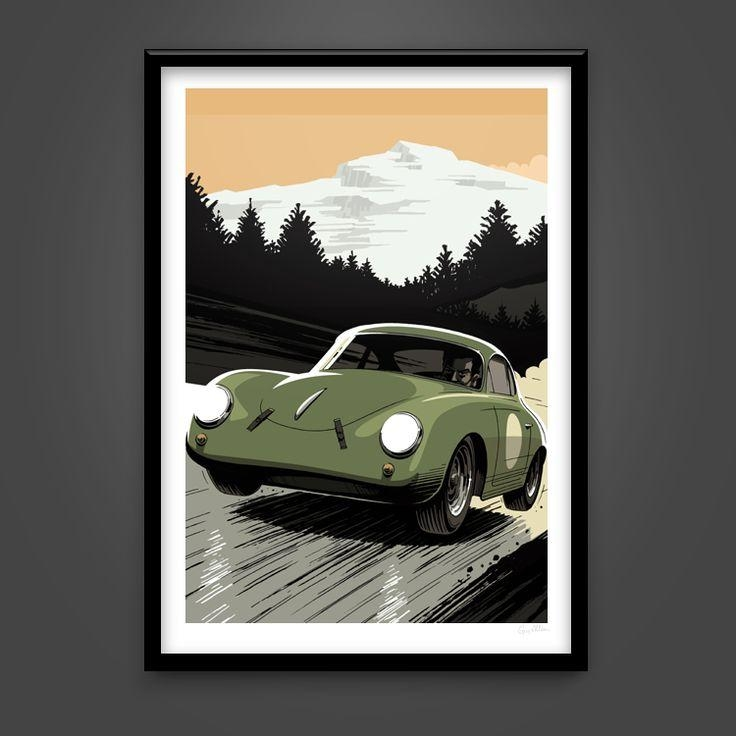 72 Best Wall Art Images On Pinterest | Art Posters, Guitar Posters For Classic Car Wall Art (Image 1 of 20)