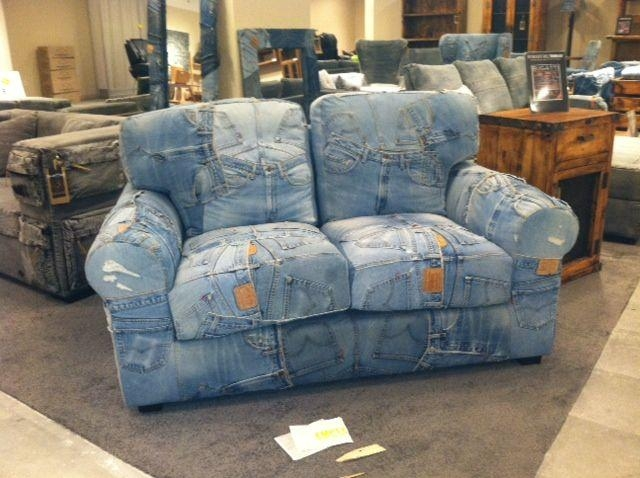 20 collection of blue jean sofas sofa ideas for Creative reclaimed denim sofa covers