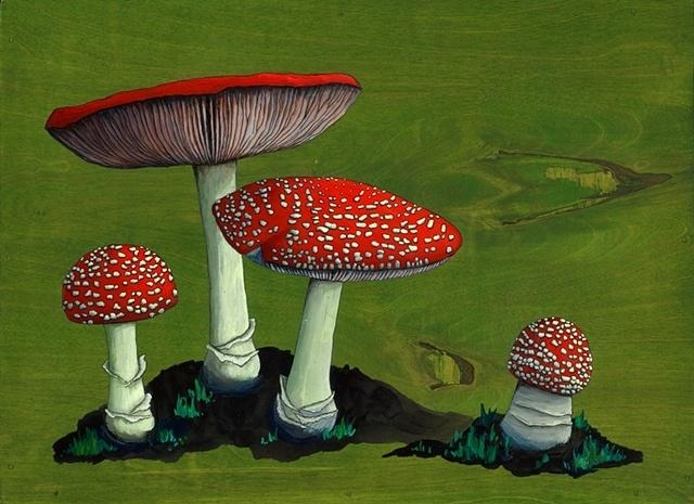 8 Best Imprimatura Images On Pinterest | Grisaille, Art Techniques For Mushroom Wall Art (Photo 12 of 20)