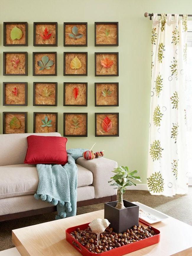 8 Creative Diy Project Ideas For Using Fall Leaves As Seasonal For Seasonal Wall Art (Photo 14 of 20)