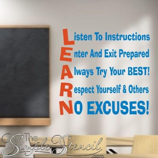 81 Best Classroom And School Wall Quotes & Lettering Decals Images For Classroom Vinyl Wall Art (Image 7 of 20)