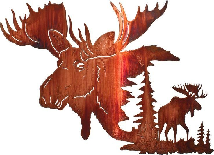 81 Best Moose Metal Wall Art Images On Pinterest | Metal Walls With Lazart Metal Wall Art (Photo 9 of 20)