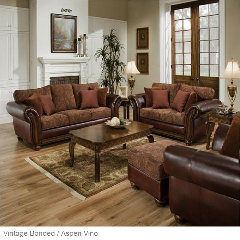 8104 Zephyr Vintage Bonded Leather Queen Sleeper Sofasimmons Throughout Simmons Leather Sofas And Loveseats (Image 5 of 20)