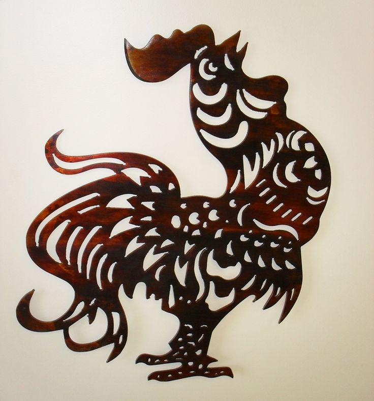 82 Best Roosters Images On Pinterest | Rooster Decor, Roosters And In Metal Rooster  Wall