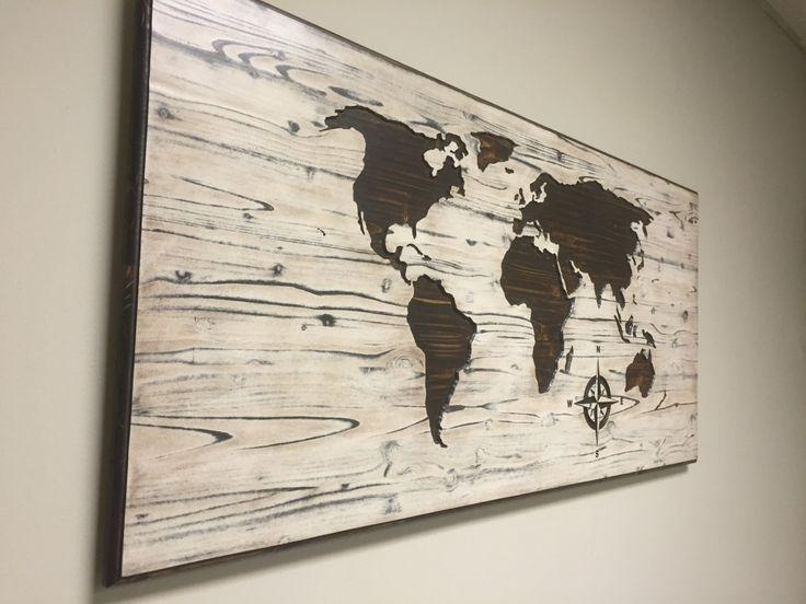 82 Best Wood Wall Art Images On Pinterest | Wood Walls, Wood Wall In World Map Wood Wall Art (Image 1 of 20)