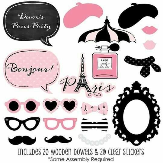 83 Best Fiesta París Images On Pinterest | Paris Party, Tags And Regarding Paris Themed Stickers (Image 10 of 20)