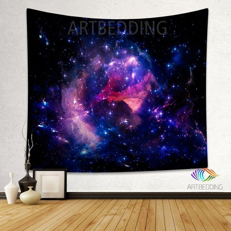 86 Best Galaxy Wall Tapestry, Galaxy Prints, Nebula Stars Regarding Outer Space Wall Art (View 6 of 20)