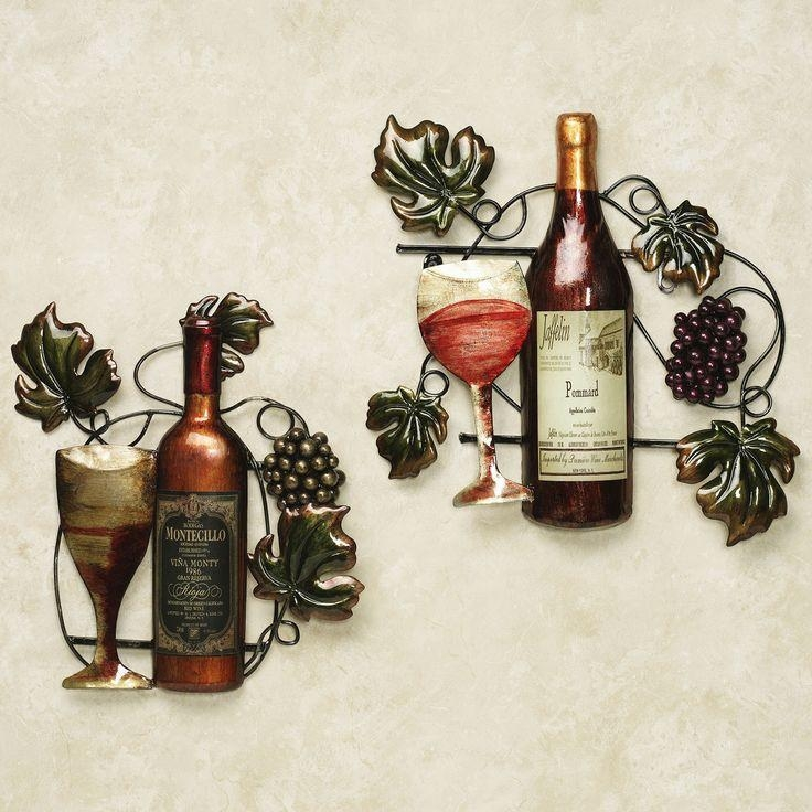 9 Best Ideas For My Wine Kitchen Images On Pinterest | Kitchen Regarding Wine Metal Wall Art (Image 5 of 20)