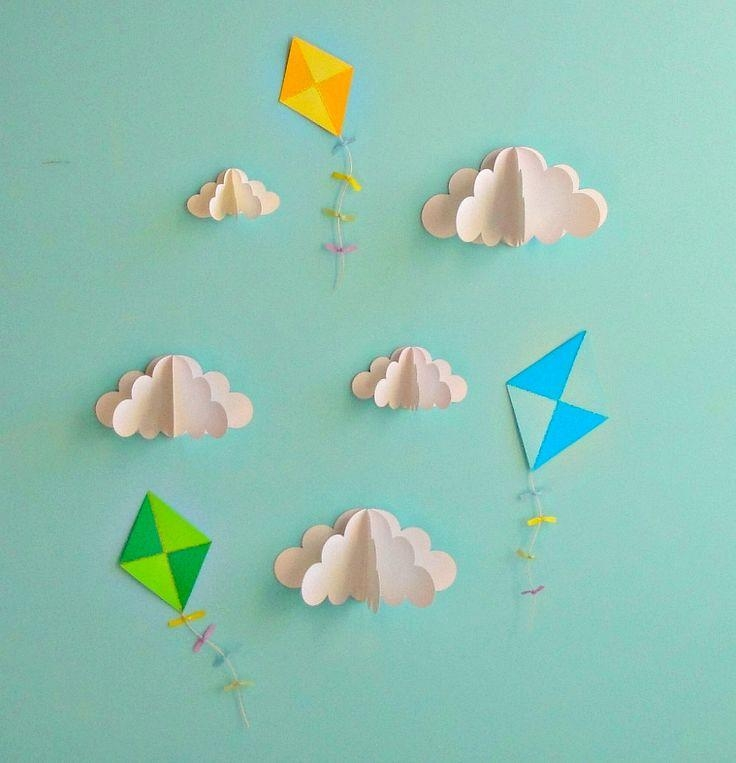 9 Best Paper Wall Images On Pinterest | Paper Walls, 3D Wall Art In 3D Clouds Out Of Paper Wall Art (View 14 of 20)