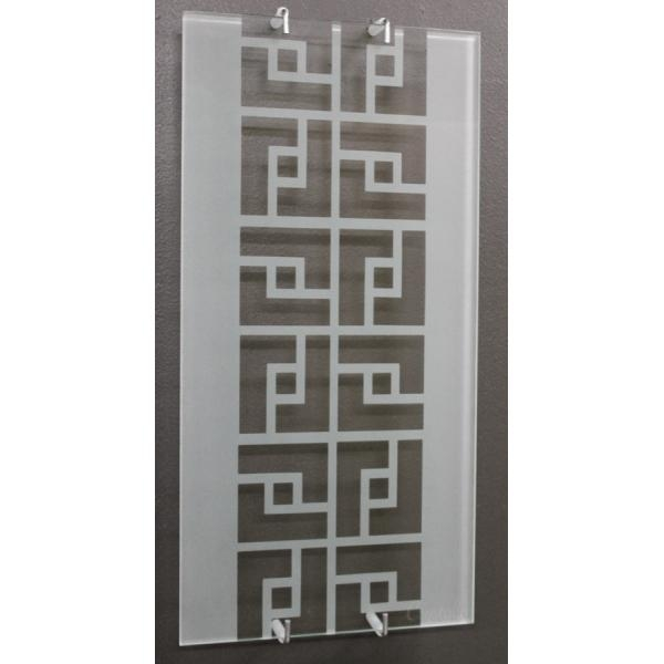 "9"" X 18"" Greek Key Wall Art – Crystalla Glass Inside Greek Wall Art (Image 4 of 20)"