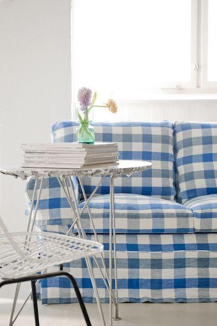 93 Best Slipcovers Images On Pinterest | Crafts, Chairs And Curtains Inside Gingham Sofas (View 14 of 20)