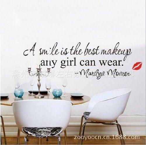 94 Best Marilyn Monroe Wall Decals Images On Pinterest | Wall With Marilyn Monroe Wall Art Quotes (Image 4 of 20)