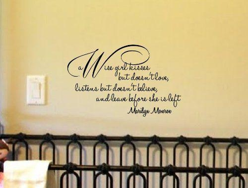 94 Best Marilyn Monroe Wall Decals Images On Pinterest | Wall With Regard To Marilyn Monroe Wall Art Quotes (Image 5 of 20)