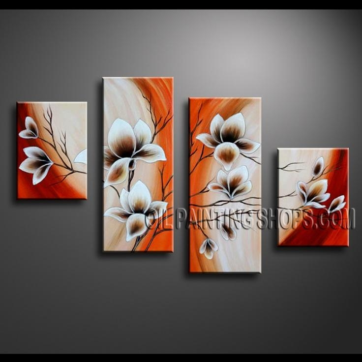 940 Best Canvas Painting 3 Piece Art Images On Pinterest For 3 Piece Floral Canvas Wall Art (View 15 of 20)