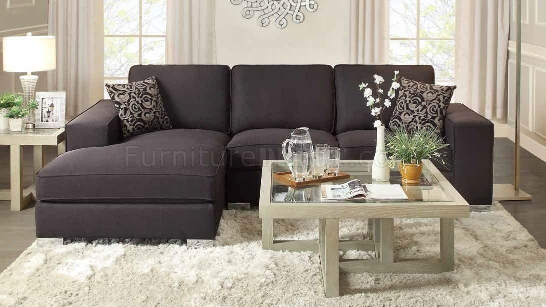 9677 Kamea Sectional Sofa In Black Fabrichomelegance Intended For Homelegance Sofas (Image 1 of 20)