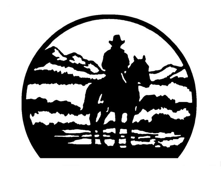 98 Best Western Silhouettes Images On Pinterest | Glass Etching With Regard To Western Metal Art Silhouettes (Image 8 of 20)