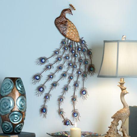 99 Best Peacock Decorations Images On Pinterest | Peacock Feathers With Jeweled Peacock Wall Art (Image 4 of 20)