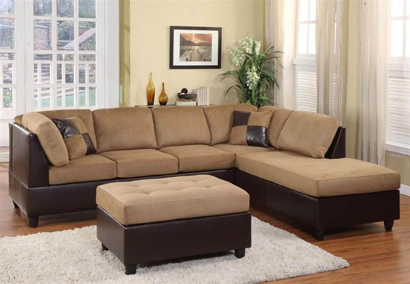 9909Br Brown Sectional Sofa Sethomelegance With Regard To Homelegance Sofas (Image 2 of 20)