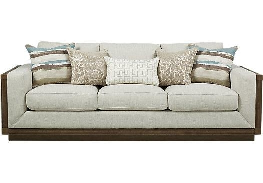 $999.99 – Pacific Harbor Beige Sofa – Classic – Contemporary, Textured With Regard To Beige Sofas (Photo 15 of 20)