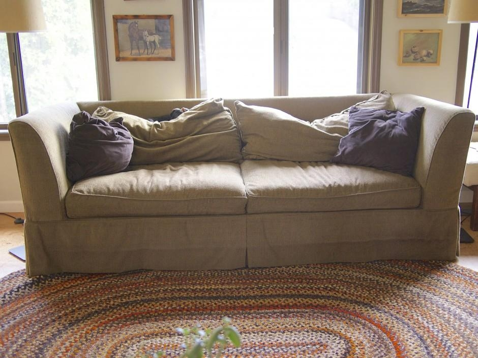 A Diy Sofa Makeover With Regard To Reupholster Sofas Cushions (Image 3 of 20)