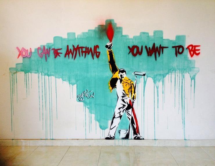 A Freddy Mercury Tribute In Rome : Brooklyn Street Art With Freddie Mercury Wall Art (Image 1 of 20)