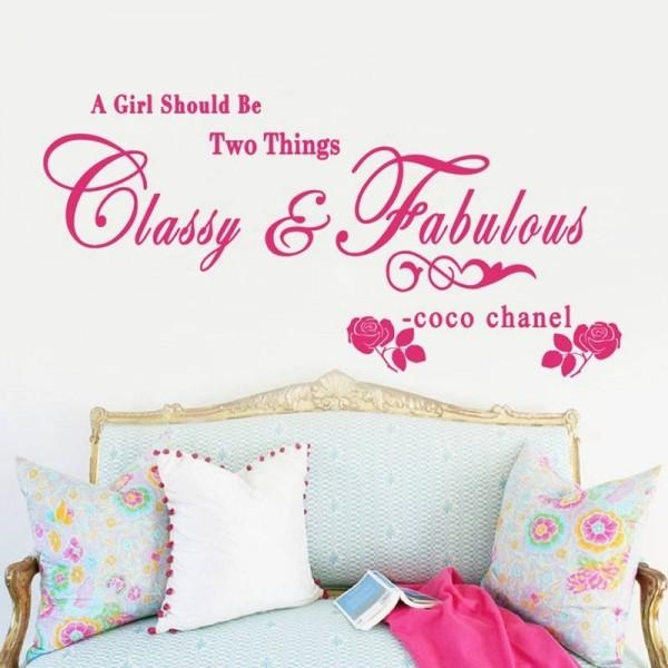 A Girl Should Be Two Things Coco Chanel Wall Sticker Quotes With Regard To Coco Chanel Wall Stickers (View 20 of 20)