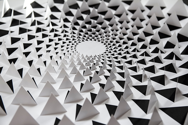 A Mind Bending 3D Optical Illusion Wall Art Made Using One Sheet For Optical Illusion Wall Art (Image 4 of 20)