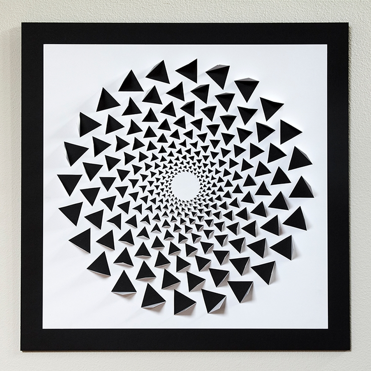 A Mind Bending 3D Optical Illusion Wall Art Made Using One Sheet Intended For Optical Illusion Wall Art (Image 6 of 20)