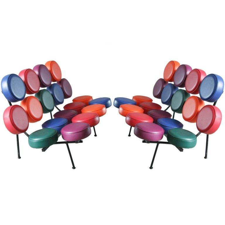 A Pair Of George Nelson Marshmallow Sofas For Vitra At 1Stdibs Within George Nelson Sofas (Image 1 of 20)